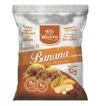 Biscoito sabor banana com Whey (45g) - WheyViv - Wheyviv fit -