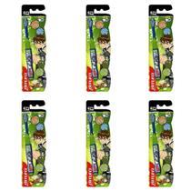 Bitufo Ben 10 Escova Dental Extra Macia + Protetor (Kit C/06) -