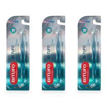 Bitufo Extra Macia Dois Tufos Escova Dental Cores Sortidas (Kit C/03) -
