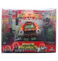 Block Heroes Missão Bombeiros Mike Polibrinq BL595 -