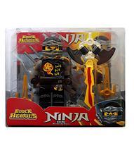 Block Heroes Missão Ninja Kichi Mestre da Terra Polibrinq BL587 -