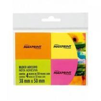Bloco Adesivo 4 cores com 50 Folhas Cada Neon Maxprint 50x38mm -