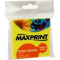 Bloco Adesivo 76x76mm 150 Folhas Neon Maxprint -