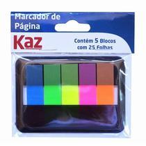 Bloco Adesivo KAZ Flags Sortido Neon 5 Cores KZ4300 -