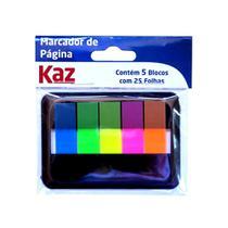 Bloco Adesivo Marcador KAZ Flags Sortido Neon 5 Cores KZ4300 -