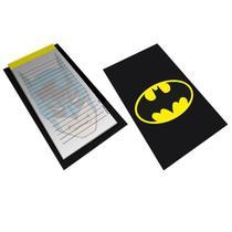 Bloco Anotação Com Prancheta Dco Batman Logo And Face 15X21cm - Urban