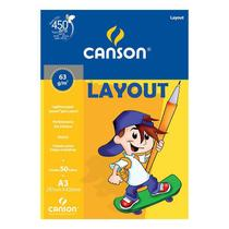 Bloco Canson A3 Branco 50 Folhas Layout -
