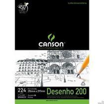 Bloco Canson A4 Desenho 200 - 20 folhas - Branco -