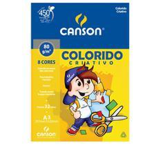 Bloco Canson Linha Infantil Colorido Criativo 80/m² A3 297 x 420 mm com 32 Folhas e 8 cores - 66667089 -