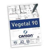 Bloco Canson Papel Vegetal 90 A2 95g 50 Folhas -