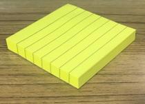 Bloco de Anotação Com Linhas Adesivo Sticky Note Colorido 76 mm x 76 mm - 100 folhas - Sunflower