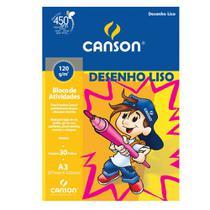 Bloco de Atividades Desenho Liso Canson Linha Infantil 120 g/m² A3 297 x 420 mm com 30 Folhas - 66667094 -