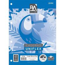 Bloco De Fichario Caderno Universitario Uniflex 96 Folhas Basic Jandaia -