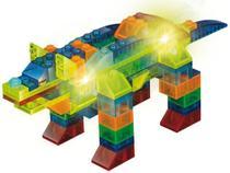 Bloco de Montar 99 Peças Light Blocks Animais  - Xalingo -