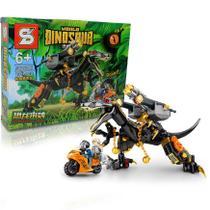 Bloco de Montar Creator Dinossauro Alossauro Preto / Lego Jurassic World 232Pcs 6+ SY -