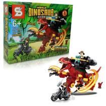 Bloco de Montar Creator Dinossauro Rex Vermelho / Lego Jurassic World 255Pcs 6+ SY -