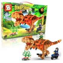 Bloco de Montar Dinossauro Tiranossauro REX / Lego Jurassic World 390 Pcs 6+ SY -