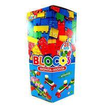 Bloco de montar monta 28 peças na caixa - Mini Toys