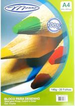 Bloco desenho a4 creme 140gr c/20 folhas menno -