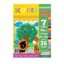 Bloco ecocores visual 2 180g 230x320mm 36 fls 7cores Novaprint -