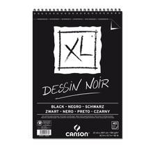 Bloco Espiralado Canson XL Dessin Noir Black 150g/m² A4 21 x 29,7 cm com 40 Folhas  60039086 -