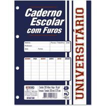 Bloco Fichario Branco 96 Folhas 200mm x 275mm Kit 5 Unidades - São Domingos