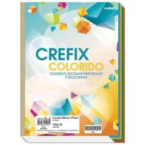 Bloco Folha Fichário C/96 Fls Caderno Refil Colorido 4 Furos - Credeal