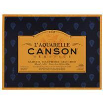 Bloco LAquarelle Canson Héritage Grano Fino 300g/m² 31 x 41 cm Com 20 Folhas - 60720004 -
