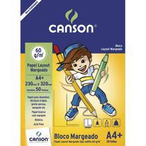Bloco Layout 060 g/m² com Margem Escolar A-4+ 23,0 x 32,0 cm com 50 Folhas Canson -