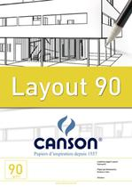 Bloco Layout 090 g/m² Técnico A-4 21,0 x 29,7 cm com 50 Folhas Canson -