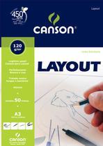 Bloco Layout 120 g/m² Estudante A-3 29,7 x 42,0 cm com 50 Folhas Canson -