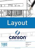 Bloco Layout 180 g/m² Técnico A-4 21,0 x 29,7 cm com 20 Folhas Canson -