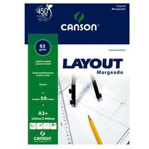 Bloco layout a3+ 63g margeado - 66667077 - Canson