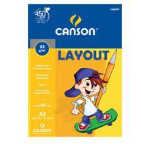 Bloco Layout Canson Linha Infantil 63/m² A3 297 x 420 mm com 50 Folhas - 66667075 -