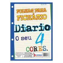 Bloco para Fichário 96 Folhas Diario 4 Cores - Tamoio -
