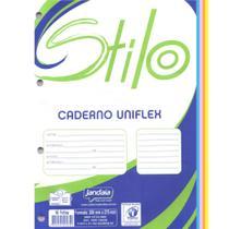 Bloco para Fichário Jandaia Stilo 96 Folhas Colorido - 10 Unidades -