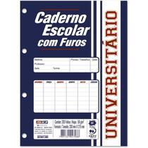 Bloco Para Fichário Universitário Monobloco Branco 96 Folhas Pacote 5 Unidades São Domingos -