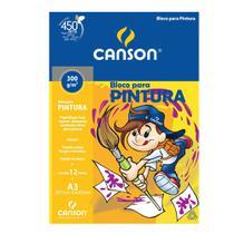 Bloco para Pintura Canson Linha Infantil 300 g/m² A3 297 x 420 mm com 12 Folhas - 66667092 -