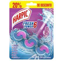 Bloco Sanitario Fresh Power 6 Lavanda com 20% de Desconto 1 UN Harpic -