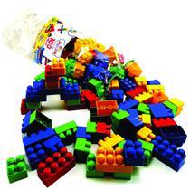 Blocos de montar 100 peças blocos educativos reiblocks da reibrink -