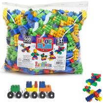 Blocos De Montar 500 Peças Brinquedo Educativos - Luc Toys