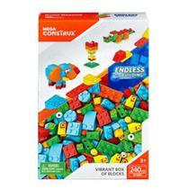 Blocos de Montar Box Grande Cores Vibrantes Mega Construx - Mattel -