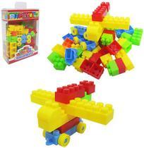 Blocos De Montar Brinquedo Criança Com 70 Pecas Blocks - 20 Comercial