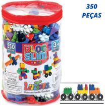 Blocos De Montar Brinquedo Educativos 350 Peças Na Bolsa - Luc Toys