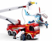 Blocos de Montar Caminhão de Bombeiro e Helicóptero 394 Peças BR824 - Multilaser -