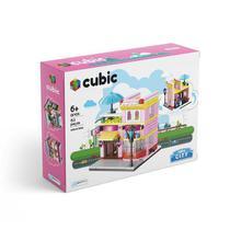 Blocos de Montar Cubic Mini City Modelo Sorveteria com 153 Peças Indicado para +6 Anos Multikids - BR1100 -