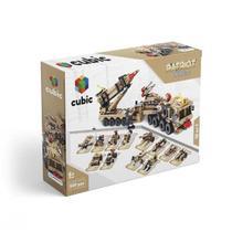 Blocos de Montar Cubic Modelo Exército 12 em 1 com 549 Peças Indicado para +6 Anos Multikids - BR1096 -