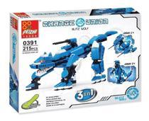 Blocos De Montar Estilo Lego Change Union Peizhi 3 em 1 -