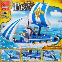 Blocos de Montar Estilo Lego Peizhi Barco Pirata Wars Island Navio de Defesa -