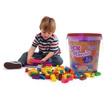 Blocos De Montar Infantil Brinquedo Educativo 52 Peças - Alfem Plastic